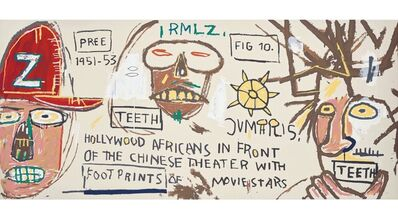 Jean-Michel Basquiat, 'Hollywood Africans in front of the Chinese Theater', 2015