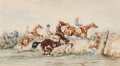 Alfred De Dreux, 'Le saut de l'obstacle'