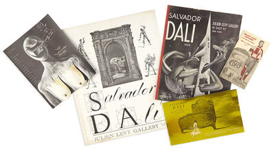 Salvador Dalí, 'Group of interesting Julien Levy Gallery exhibition items'