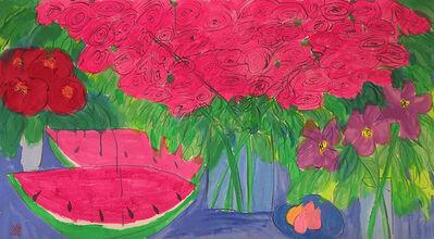 Walasse Ting 丁雄泉, 'Watermelon Feast', ca. 1990