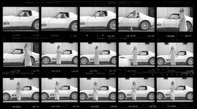 Julian Wasser, 'Joan Didion, Hollywood, 1968 (Contact Sheet 1)', 1968