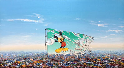Jeff Gillette, 'Mickey Billboard Plastic Landfill', 2019
