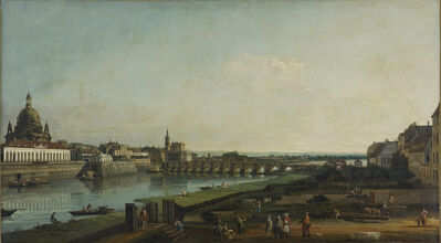 Bernardo Bellotto, 'Dresden from the Right Bank of the Elbe above the Augustus Bridge', 1747