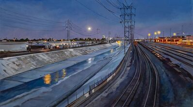 Patricia Chidlaw, 'Moonrise Over the L.A. River', 2020