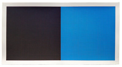 Sol LeWitt, 'Grids and Color #24 (Black/Blue w Red Grid)', 1979