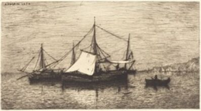 Adolphe Appian, 'Coasting Trade Vessels, Italy', 1874
