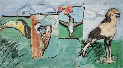 Larry Rivers, 'Toucan, Woodpecker, Humming, Secretary Birds', 1990