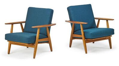 Hans Jørgensen Wegner, 'Pair of lounge chairs (GE240), Denmark', 1950s