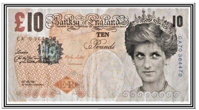 "Banksy, 'The ""Di-Faced Tenner"" + his hand-signed COA', 2004"