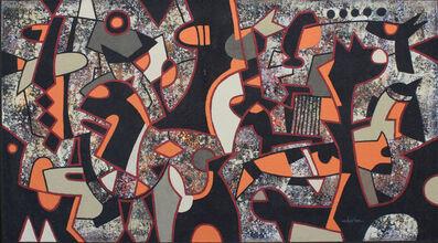 Charles Khoury, 'Orange & Gray', 2019