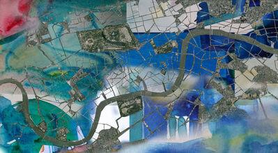 Sonia Gil, 'URBAN CALLIGRAPHY, London Map', 2016