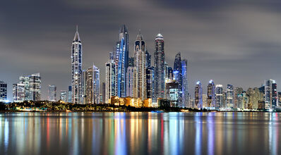 Andrew Prokos, 'Dubai Marina at Night', 2020