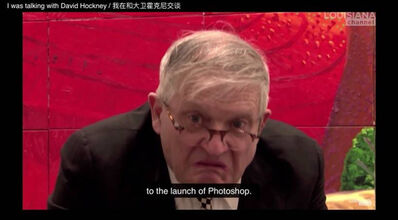 Lin Ke 林科, 'I was talking with David Hockney', 2020