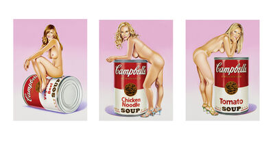 Mel Ramos, 'Campbell`s Soup Blondes', 2016