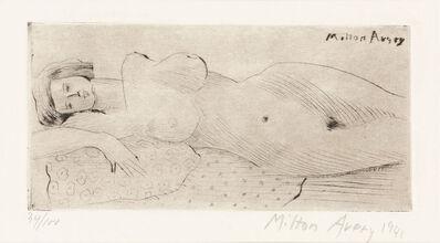 Milton Avery, 'Reclining Nude (L. 22)', 1941