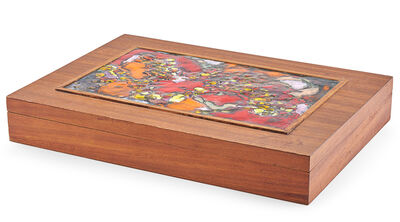Arthur Ames, 'Large lidded box with decorative panel, California', 1950s-60s