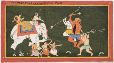 Unknown Artist, 'Indra battles the demon Vritrasura', 1680-1700