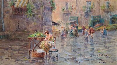 Fulvio Tessitore, 'Al Mercato, Naples', ca. 1925