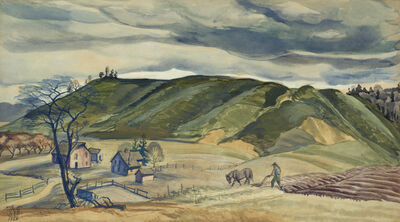 Charles Ephraim Burchfield, 'November Plowing', 1928