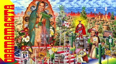 Kenneth Tin-Kin Hung, 'Guadalupe - Obamacita!', 2009