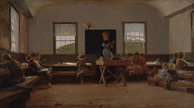 Winslow Homer, 'The Country School', 1871