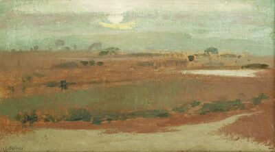 Lionel Bulmer, 'SUNSET OVER MARSHES'