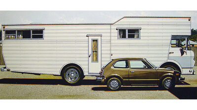 James Torlakson, 'Mobile Home with Honda', 1974