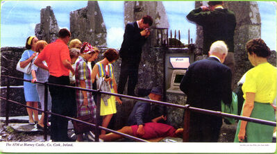 Sean Hillen, 'The ATM at Blarney Castle', 2001