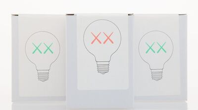 KAWS, 'Light Bulb Set (Red and Green), for The Standard (three works)', 2011