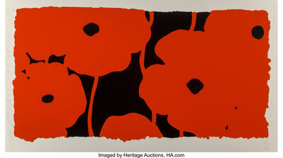 Donald Sultan, 'Red Poppies', 2010