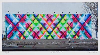 Maya Hayuk, 'Chem Trails (Bowery Wall) NYC', 2014