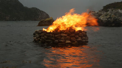 Julie Brook, 'Firestack, Autumn: Aird Bheag, Outer Hebrides, Scotland', 2016