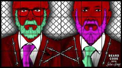 Gilbert and George, 'BEARD CODE', 2017