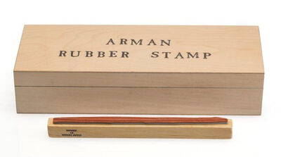Arman (1928-2005), 'The Stamp Art Museum and Gallery Paint Brush Cachet', 1996