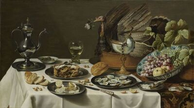 Pieter Claesz, 'Still Life with Turkey Pie', 1627