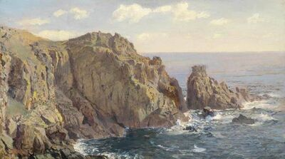 William Trost Richards, 'Gull Rock, Guernsey', ca. 1896