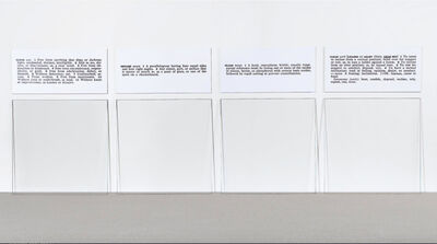 Joseph Kosuth, 'Glass - One and Four Defined', 1965