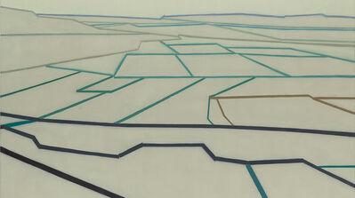 """Suzanne Caporael, '695 (A van Gogh perspective, after """"La Crau"""")', 2014"""