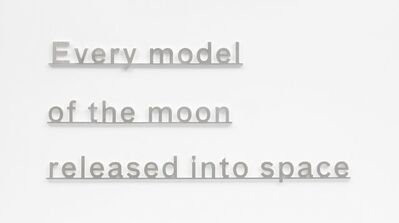 Katie Paterson, 'Ideas (Every model of the moon released into space)', 2017