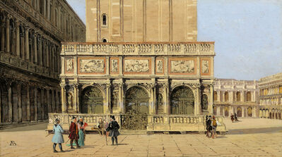 Antonietta Brandeis, 'The Loggetta of Piazza San Marco', 1900