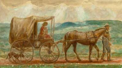 "John Steuart Curry, 'Melora in the Cart (From ""John Brown's Body"")', 1944"
