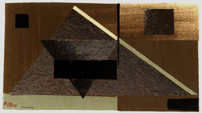 Werner Drewes, 'Gray on Black: Gray Triangle', 1980