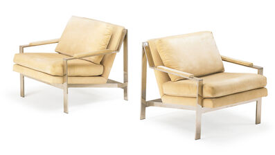 Cy Mann, 'Cy Mann Pair Of Lounge Chairs', 1970s