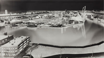 Vera Lutter, 'View of Cleveland Flats (V Crittenden Court Apartments, 955 W. St. Clair Ave., 18th Floor, July 6, 1997)'