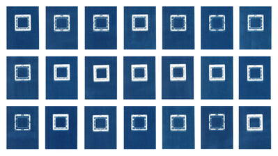 Sarah Irvin, 'Cyanotype Archive: Hollow Square Playmags', 2019