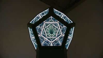 "Anthony James, '24"" Dodecahedron (Solar Black)', 2020"