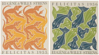 Maurits Cornelis Escher, '(i)Fire (ii)Water'