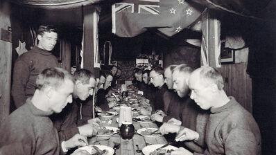 Frank Hurley, 'Mid-winter Dinner', ca. 1913