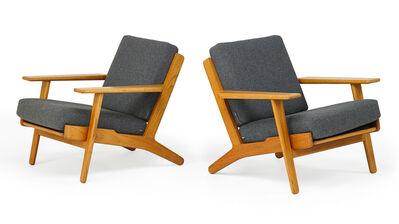Hans Jørgensen Wegner, 'Pair of lounge chairs (GE 290)', 1960s