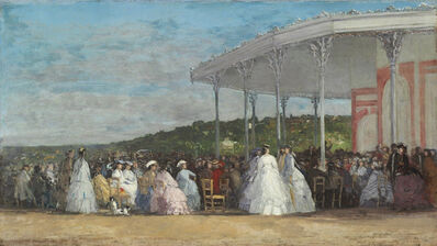 Eugène Boudin, 'Concert at the Casino of Deauville', 1865